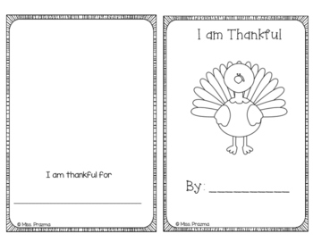 I am Thankful Book
