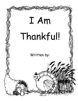 I am Thankful Booklet