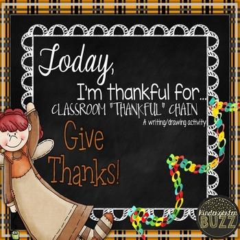 I am Thankful Class Writing (Chain)