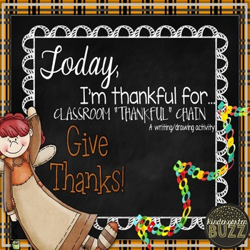 I am Thankful Class Writing (Chain)