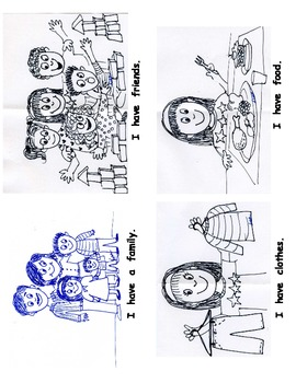 I am Thankful Emergent Reader printable mini book for Kindergarten