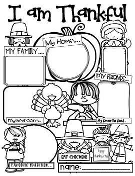 I am Thankful FREEBIE by Teaching with Mel D   TpT