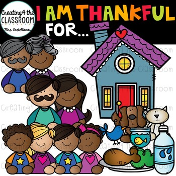 I am Thankful For Clip Art {Thanksgiving Clip Art}