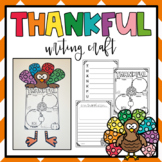 I am thankful for writing activities {poem and flipbook}