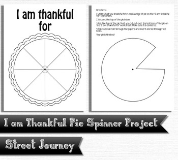 I am Thankful For - Thanksgiving Pie Spinner Printable Activity