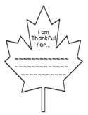 I am Thankful Leaf