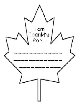 I am Thankful Leaf