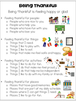 I am Thankful Writing Craft for Special Education