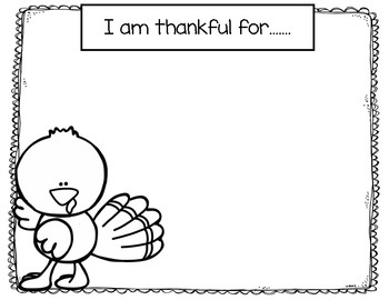 I am Thankful for.... Placemat