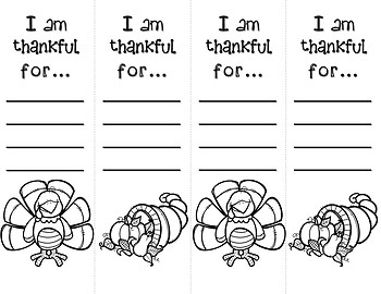 graphic relating to Thankful Printable named I am Grateful forPrintable bookmarks