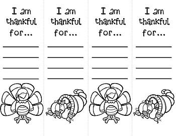 photo regarding I Am Thankful for Printable identify I am Grateful forPrintable bookmarks