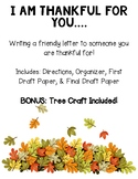 I am Thankful for You Letter and Tree Craft- Perfect for T