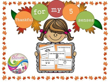 I am Thankful for my 5 Senses (Thanksgiving theme)