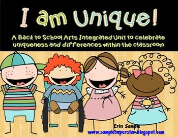 I am Unique! Back to School Arts Integrated Unit