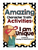 I am Unique - Character Traits Activities