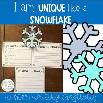 I am Unique like a Snowflake! Writing Craftivity