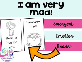 I am Very Mad Emergent Reader Book {Young Readers, ESL, EFL}