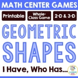 Geometric Shapes: I am, Who Is (Flat and 3-D Figures)