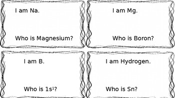 I am Who Is? Element Symbol and Electron Configuration
