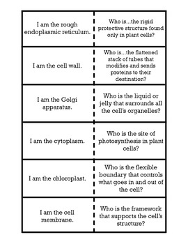 I am/Who is Review Game - Cell Organelle Edition