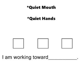 I am Working Toward   Visual  Board