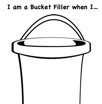 """I am a Bucket Filler when I..."" worksheet"
