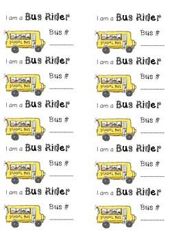 I am a Bus Rider Labels