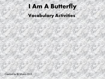 I am a Butterfly Vocabulary Unit