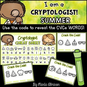 I am a CRYPTOLOGIST! {Reveal the CVCe Words} SUMMER