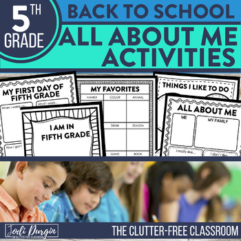 First Day of School FIFTH GRADE: A Clutter-Free Back to School Activity