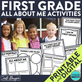 First Day of School FIRST GRADE: A Clutter-Free Back to School Activity