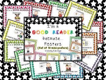 """""""I'm a GOOD READER & WRITER because..."""" Poster Sets {BUNDLED}"""