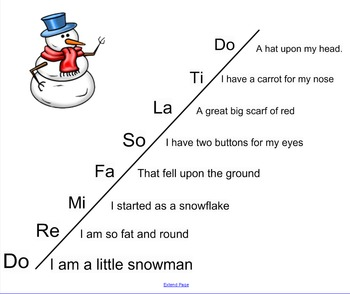 I am a Little Snowman (Scale Song)
