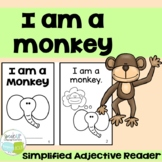 I am a Monkey Emergent Circus Animal Adjective Reader  {Young Readers, ESL, EFL}