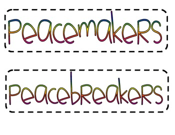 I am a Peacemaker Activity
