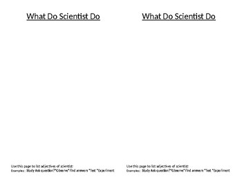 I am a Scientist (Science Notebook Pages)