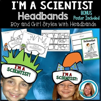 I am a Scientist Hats - Boy and Girl Styles