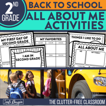 First Day of School SECOND GRADE: A Clutter-Free Back to School Activity