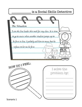 I am a Social Skills SPEECH DETECTIVE Worksheets