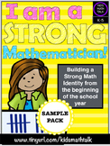I am a Strong Mathematician! Building a Positive Math Identity FREEBIE