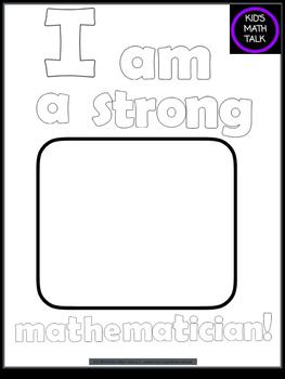 I am a Strong Mathematician! Building a Positive Math Identity FREEBIE