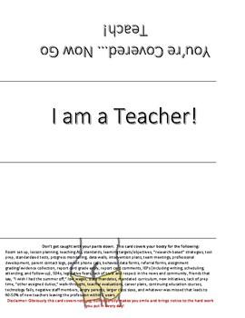 I am a Teacher tent