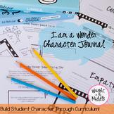 Wonder Unit Plan Character Journal