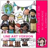 Melonheadz: I am a child of God clip art - LINE ART