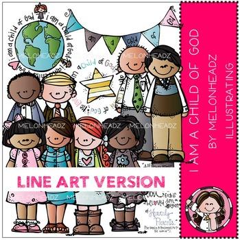 I am a child of God clip art - LDS - LINE ART- by Melonheadz