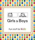 Meeting Friends - I am a girl/boy (DadaAbc Homework Worksheets)