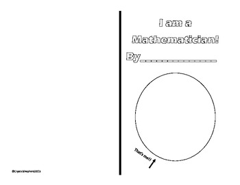 I am a mathematician student booklet