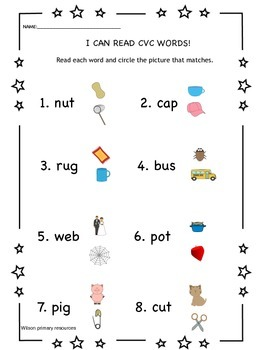 I am a reader (cvc and sight words) bundle