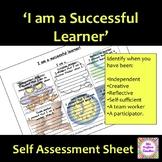 I am a successful learner self-assessment work sheet
