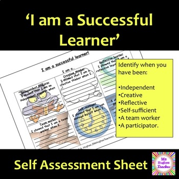 I am a successful learner self-assessment work sheet